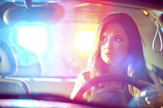 Woman pulled over by police
