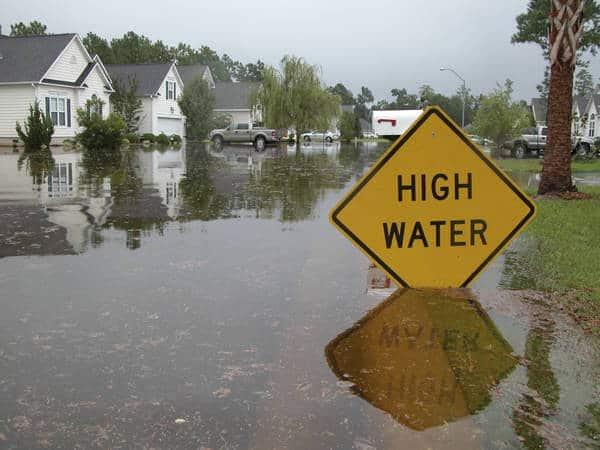 High water in neighborhood