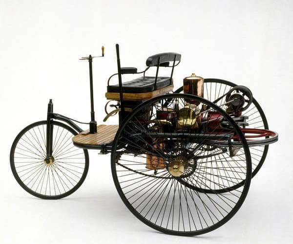 Historians consider Karl Benz's 1885 Motorwagen the first first commercially viable car.
