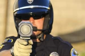 speeding ticket cop with radar gun