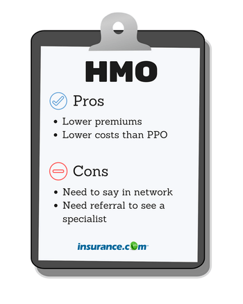 HMO stands for health maintenance organization and makes up about 15 ...