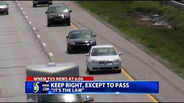 Keep right TV story (Photo: WNEM-TV)