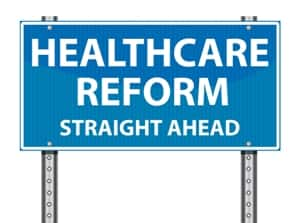 Health reform sign