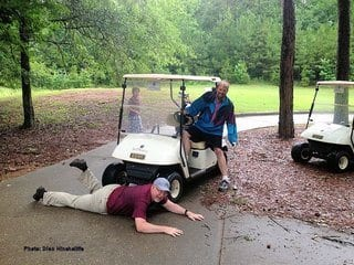 golf cart mishap