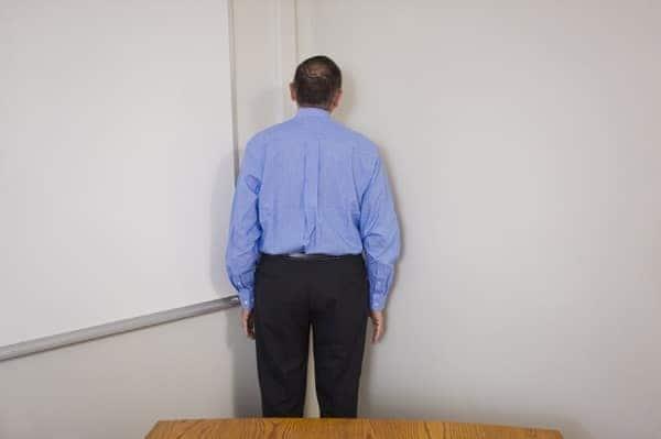 Man in corner timeout