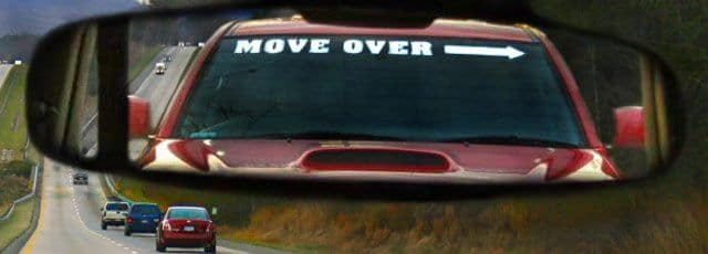 Move over decal (Photo: Left Lane Drivers of America)