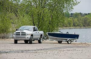 Towing a boat and trailer