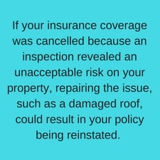 Roof cancel insurance