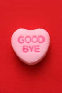 pink candy heart says good bye