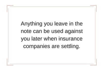 note used against you