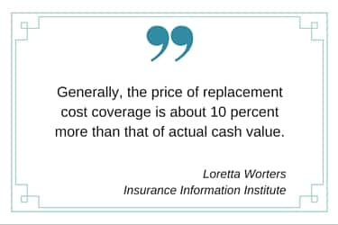 replacement insurance cost