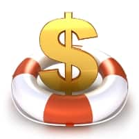 dollar sign in life preserver