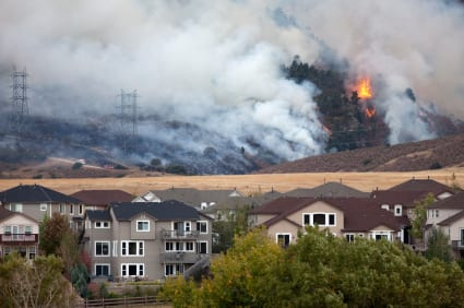 Home insurance wildfire